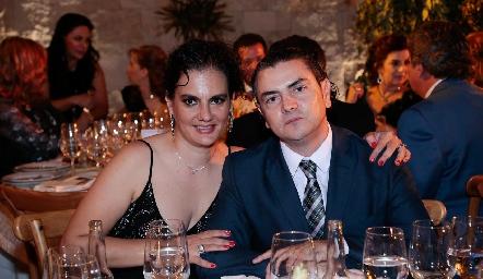 Alejandra León Abud y Carlos Palomino.