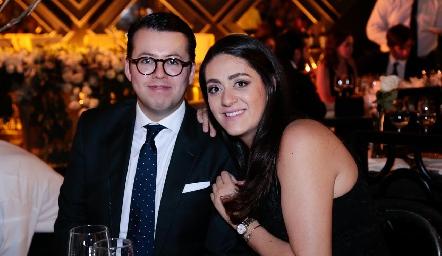Gustavo Rodríguez y Scarlett Garelli.