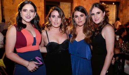 Mariana Quindós, Marcela Briones, Guillermina Quindós y Ana María Carrillo.