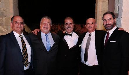 Jorge Schekaibán, Antonio Dahda, Marco Güemes, José Luis Musa y Luis Mahbub.