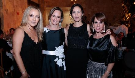 Claudia del Pozo, Rocío Gómez, Gaby Abud y Martha del Río.
