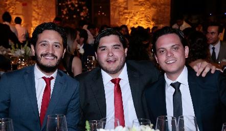 Alberto Pérez, Gunter Stahl y Jorge Naya.