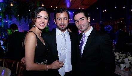 Nadia Solis, Marco Güemes y Mauricio Zollino.
