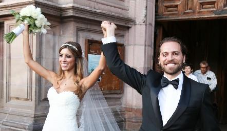Daniela Güemes y Javier De Antuñano ya son esposos.