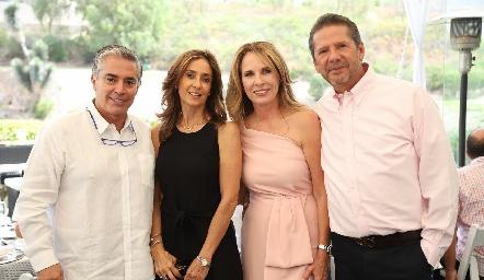 Gerardo Serrano, Mónica Gaviño, Lupita Pereda y Alejandro Santibáñez.