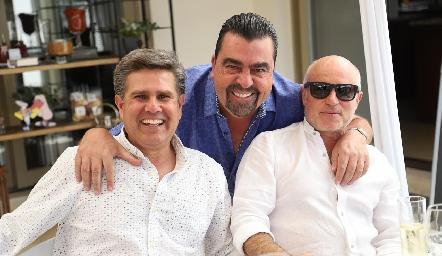 Galo Galván, Javier Gómez y Tomás Alcalde.