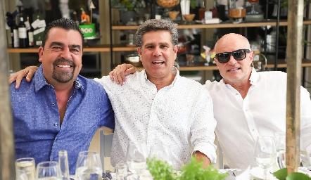 Javier Gómez, Galo Galván y Tomás Alcalde.