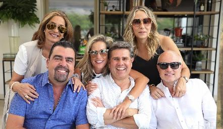 Patricia Gaviño y Javier Gómez, Claudia Quiroz y Galo Galván, Roxana Serna y Tomás Alcalde.