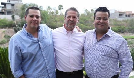 Benito González, Alejandro Santibáñez y Chema Magaña.