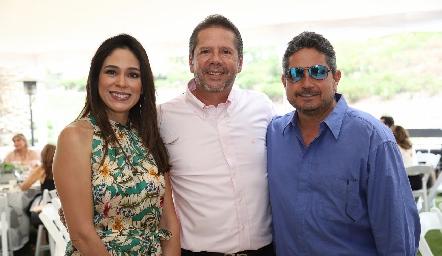 Maribel Lozano, Alejandro Santibáñez y Gerardo Rodríguez.