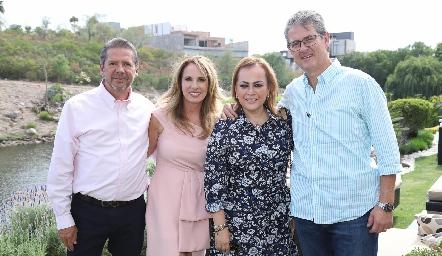 Alejandro Santibáñez, Lupita Pereda, Marcela Piña y Bernardo López.