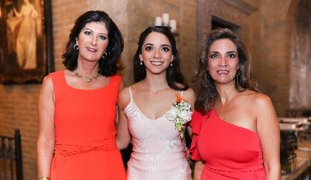 Marus Hernández, Sofía Álvarez y Lourdes Velázquez.
