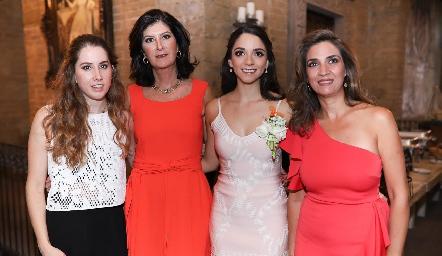 Mónica Torres, Marus Hernández, Sofía Álvarez y Lourdes Velázquez.