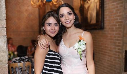 Lore Navarrete y Sofía Álvarez.