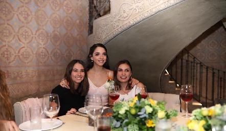 Sofía Leiva, Sofía Álvarez y Sofía Rodríguez.