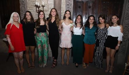 María José Zárate, Sofía Leiva, Marisol Cabrera, Diana Olvera, Sofía Álvarez, Ale Ascanio, María Lavín, Lore Navarrete y Sofía Rodríguez.