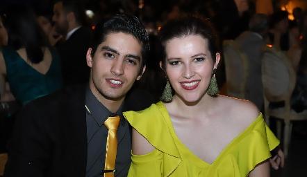 David Zermeño y Alejandra Díaz.