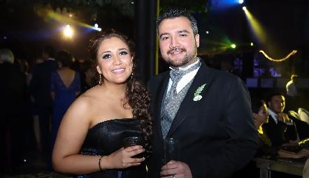 Elsa González y Aldo Morelos.