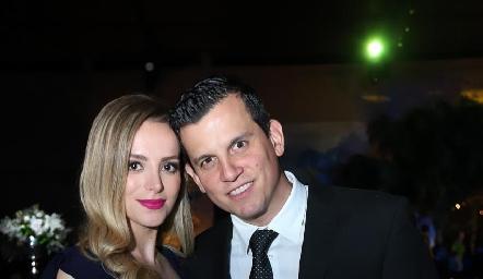 Marilú Garza y David Montemayor.