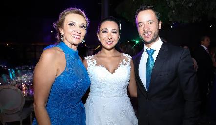 Norma Galarza, Pamela Tomás Obrador y Daniel Villarreal.