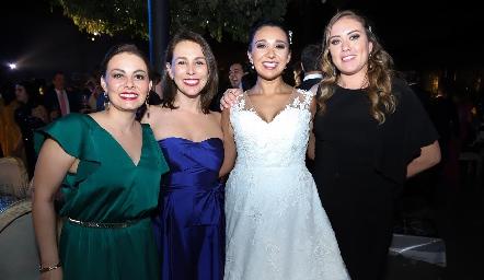 Karla Rocha, Maritza Rocha, Pamela Tomás Obrador y Daniela Jonguitud.