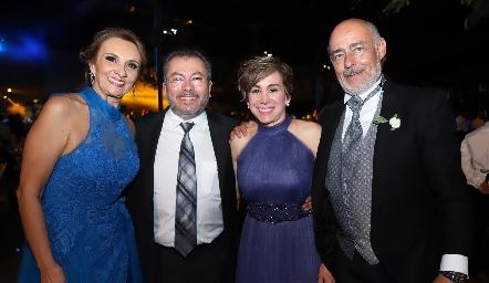 Norma Galarza, Miguel Peña, Norma Meza y Antonio Obrador.