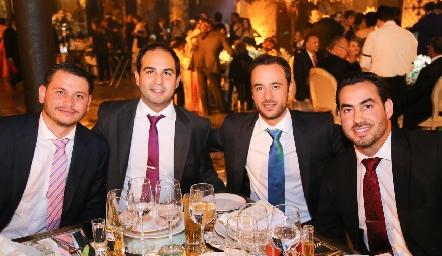 Oscar Sulé, Rubén Leal, Daniel Villarreal y Gerardo Chevale.