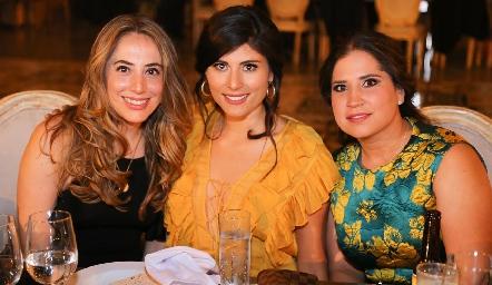 Fernanda Jiménez, Victoria Faz y María José Cordero.