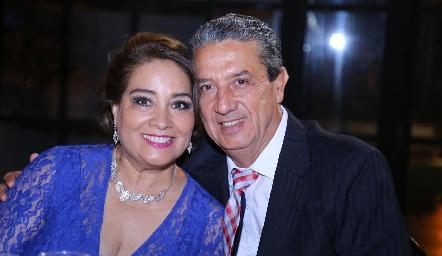 Pili Leos y Pancho Acosta.