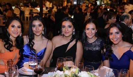 Rocío Ramírez, Mariana Armendáriz, Melissa Vera, Paulina Reynoso y Laura Saldaña.
