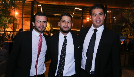 Arturo Aranda, Felipe Ventura y Pedro Rocha.