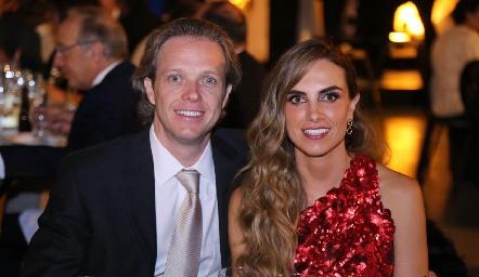 Luis José Martínez y Lucía Galarza.