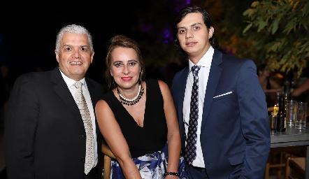Gerardo, Meritchell y Patricio Rodríguez.