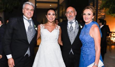 Guillermo González, Pamela Tomás Obrador, Toño Tomás Obrador y Norma Galarza.