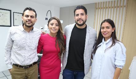 Oscar Morado, Mariana Escalante, Mario García y Montse Rosales.