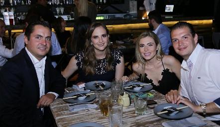 Carlos Almazán, Daniela Hernández, Claudia Oliva y Mauricio Ruiz.