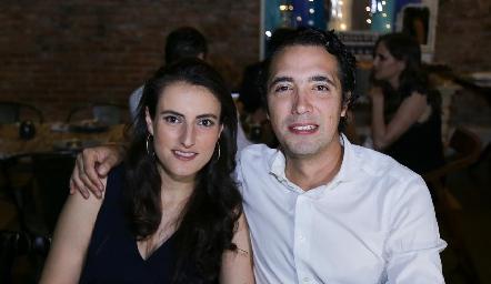 Fernanda Saiz y Wilfrido Martínez.