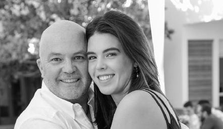 Memo con su hija, Cristy Pizzuto.