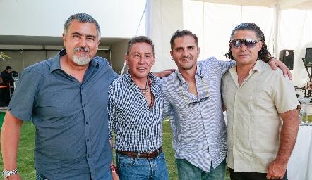 Picho Páramo, Víctor Santos, Felipe Salazar y Guillermo Arochi.