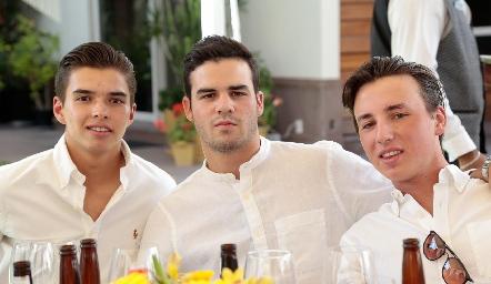 Gonzalo Alcalde, Jero Gómez y Rodrigo Navarro.