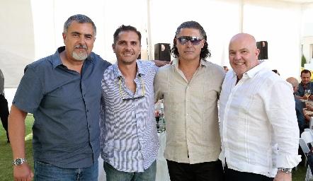 Picho Páramo, Felipe Salazar, Guillermo Arochi y Memo Pizzuto.