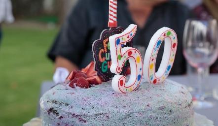 Pastel de cumpleaños.
