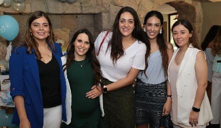 Marijó Motilla, Luciana de Oliva, Scarlett Garelli, Sofía Delgadillo y Aurora Martínez.