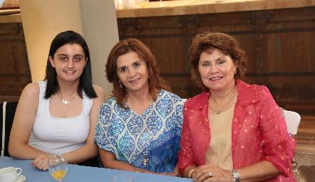 Marisa Musa, Irasema Medellín y Maru Celis.