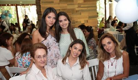 Paola Ruiz, Sofía Garfias, Martha Elena Gutiérrez, Martha y Rocío Mexicano.