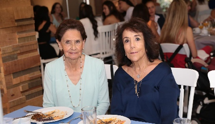Edith Leija y Maga Rubín de Celis.