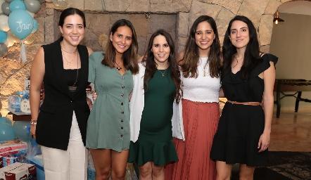 Alejandra Maza, Cristina Dávila, Luciana Rodríguez, Andrea Ascanio y Saide Gómez.