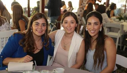 María José Motilla, Aurora Martínez y Sofía Delgadillo.