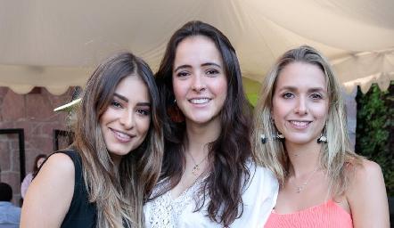 Claudia Rodríguez, María Cueli y Faustina Villarreal.