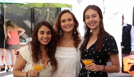 Daniela Moreno, Sofía Loredo e Isabel Garcín.